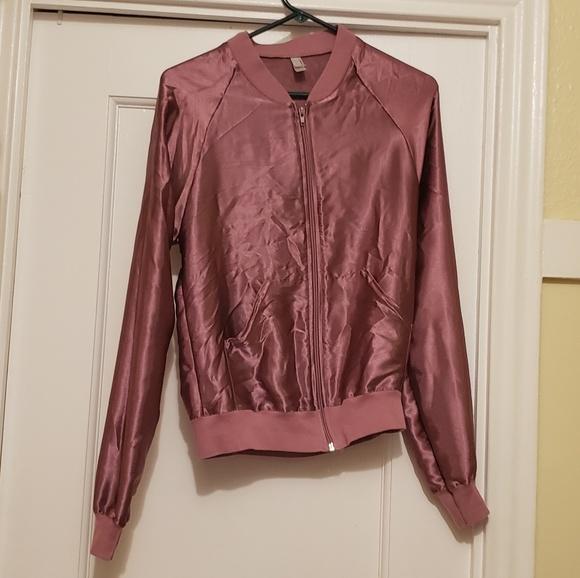American Apparel Jackets & Blazers - American Apparel satin pink jacket XS